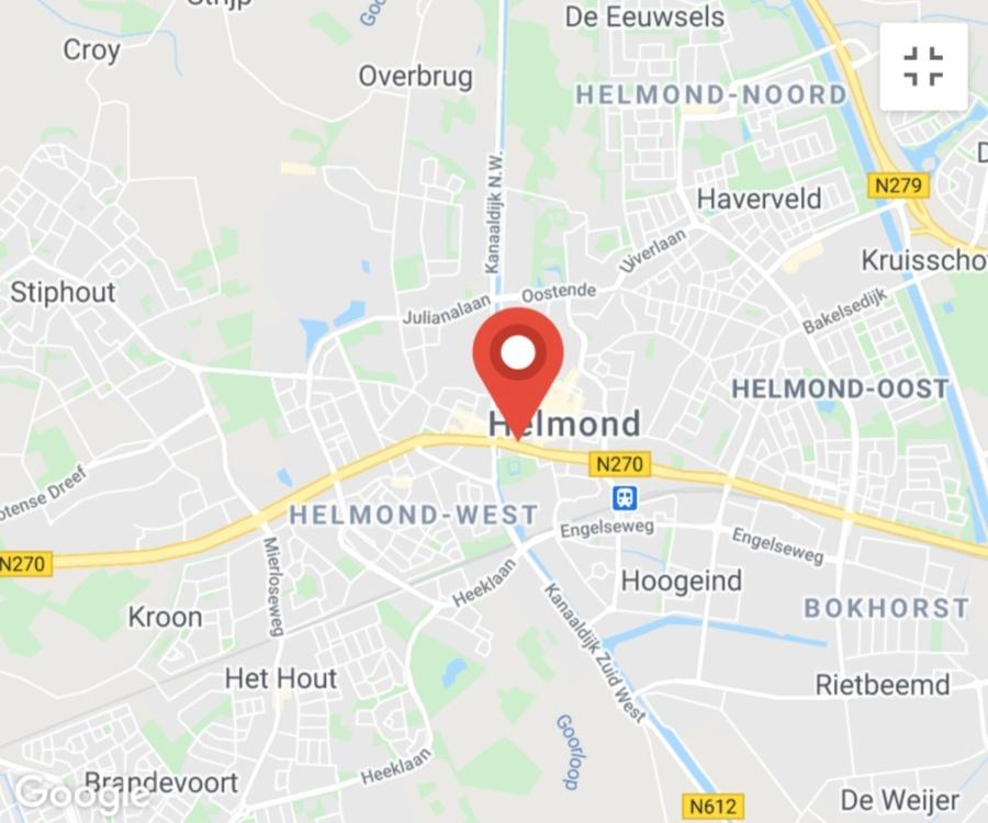 Kaart coronatest-helmond.com - Corona testlocaties Helmond